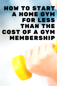 It's so easy to start a home gym for less than the cost of a 1 month gym membership. Start a home gym today for only $69 and exercise whenever you want!