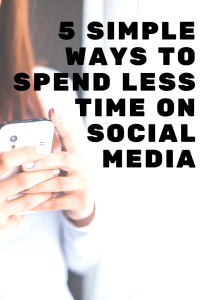 Do you fit these signs of social media addiction? If so learn how to spend less time on social media and spend more time living life.