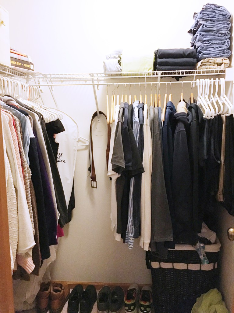 This is a must-see KonMari closet transformation! Check out a his and hers KonMari method wardrobe plus get a sneek peek at an easy KonMari folding guide!