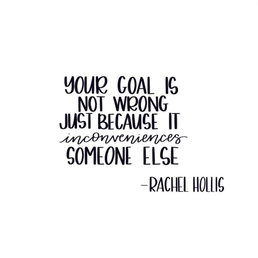 Rachel Hollis goal setting quote