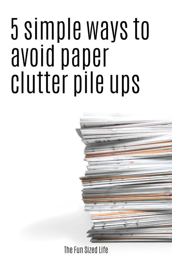 Paper clutter can take over your entire home if you let it. Use these 5 super simple hacks for dealing with paper clutter and get organized for good.