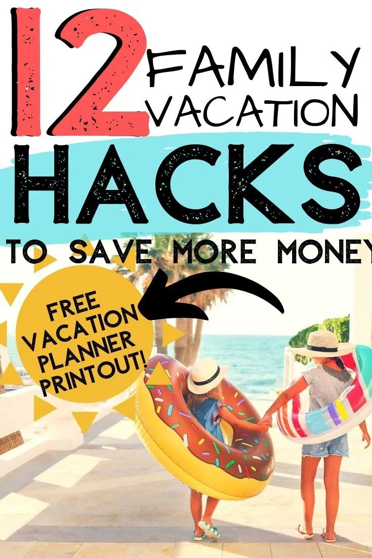 You can plan a cheap family vacation and still have a blast! Here are 12 ways that you can plan and save on your next vacation. Plus a FREE Vacation Planner