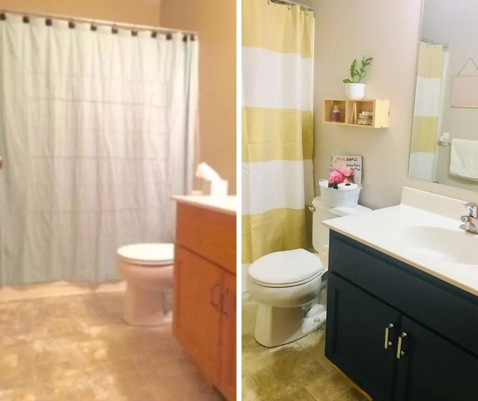 Small Bathroom Makeover with Rust-Oleum Cabinet Transformations