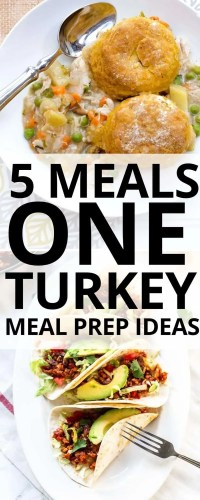 How can you make one turkey feed your family all week long? Check out these 5 meals you can make with one turkey -- and they are all delicious!!