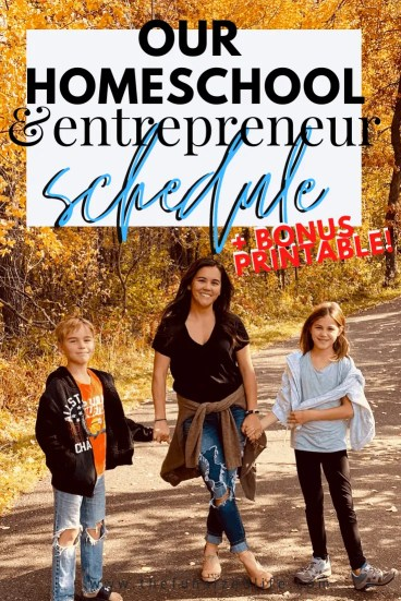 Running and online business while homeschooling can be tricky unless you have a solid schedule in place. Here is a peek at ours!