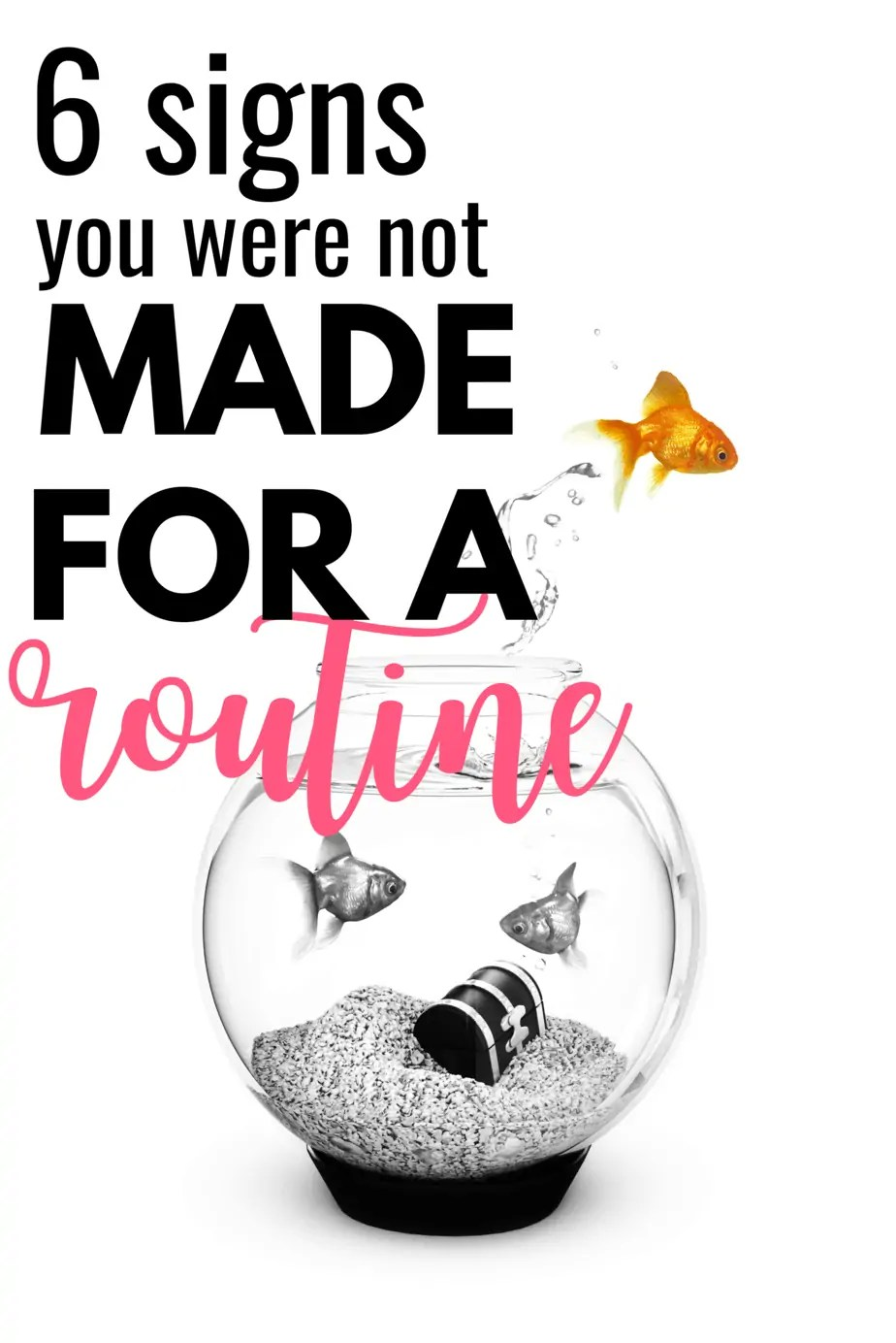 Feeling bored, unmotivated or like pulling out your own hair? You might be stuck in a routine rut that you were never made to be in!