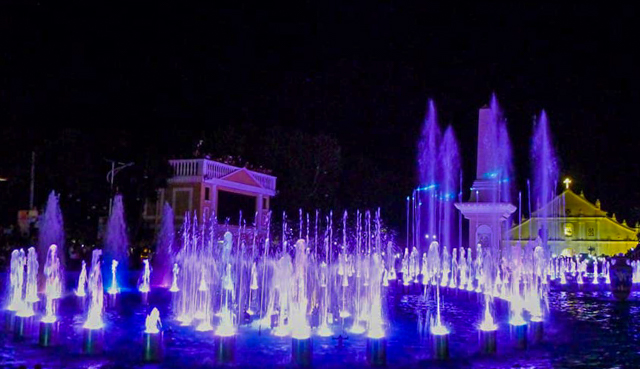 Dancing Fountain in Vigan
