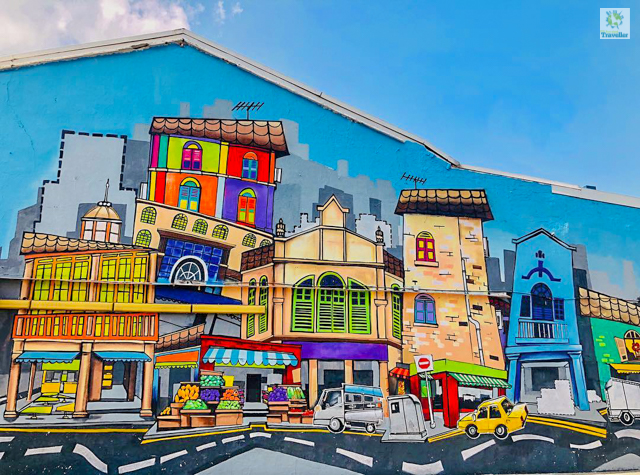 A street art at Little India