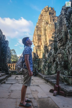Nose to nose, At Bayon temple.