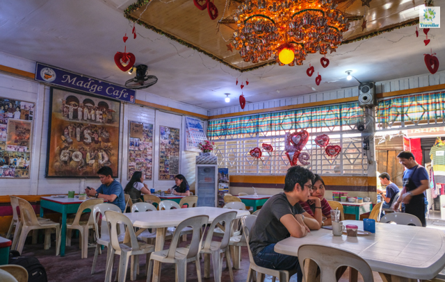 At Madge cafe located inside La Paz Public market.
