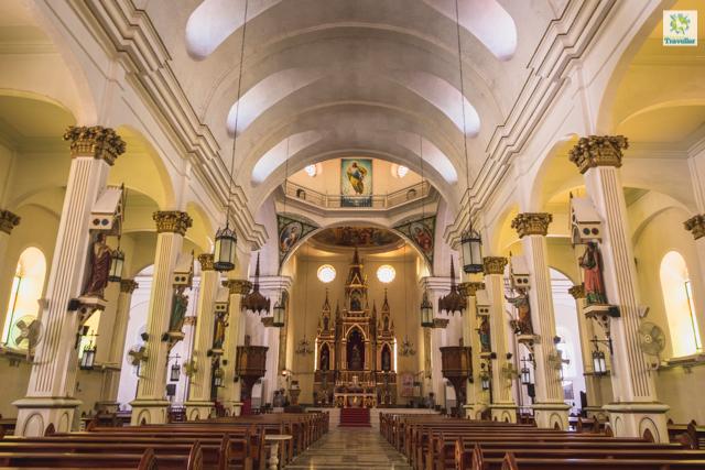The interior of Molo church.