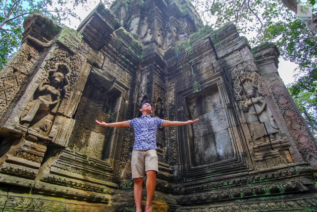 The Fun-sized Traveller at one of the temple structures inside Ta Prohm.