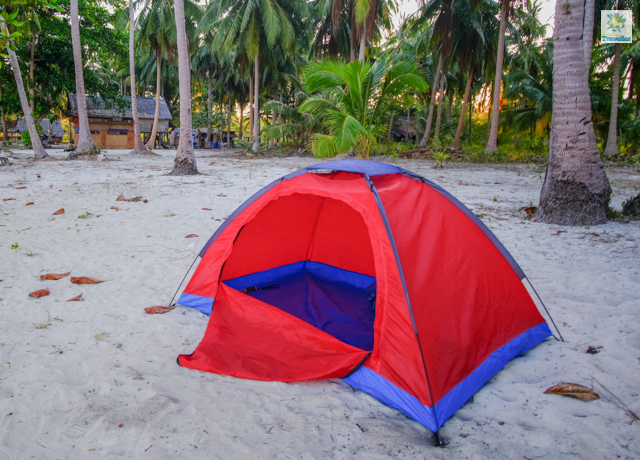 The tent I slept in at Candaraman Island.