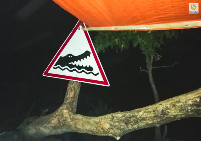 Crocodile Zone Sign located at the port of Balabac proper. Swimming is highly discouraged in the area.