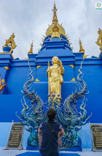 The back side of the Blue Temple.