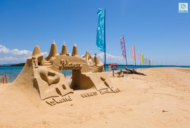 Sand castle at Luli Island at Honda Bay.