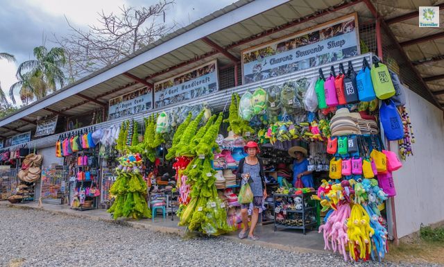 A bazaar near the entrance of Crocodile Conservation and Rescue Park.