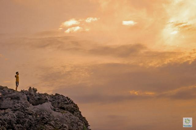 Early morning at Rapang cliff.