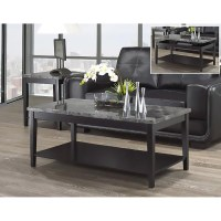 Carrara Faux Marble Lift-top Coffee & End Table Set