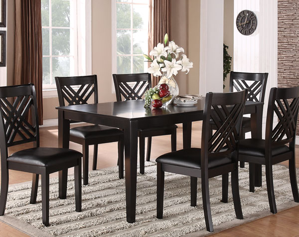 table and 6 chairs accent chair grey pattern standard brooklyn dining 18762 sauder the