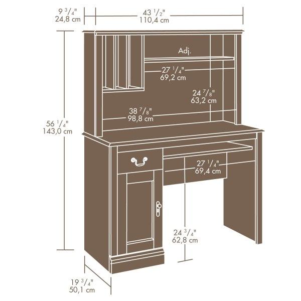 Sauder 101736 Camden County Desk With Hutch Sauder