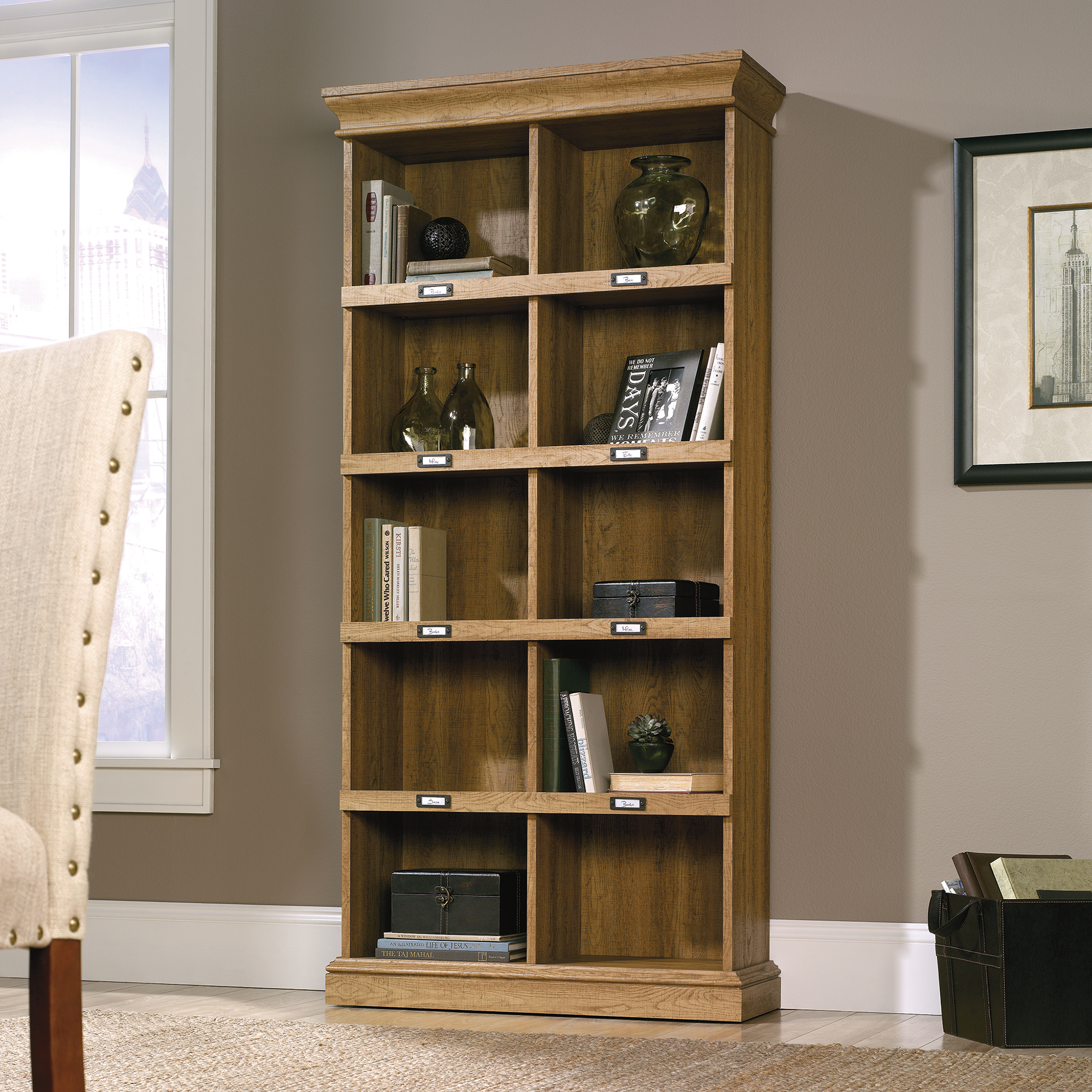 Sauder Barrister Lane Tall Bookcase 414725  The