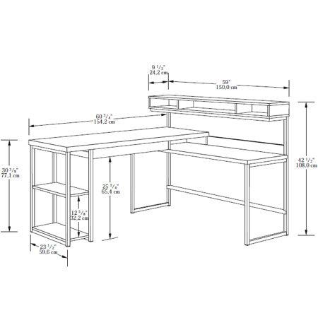 Sauder (414417) Transit L-Shaped Desk
