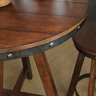 Sauder Carson Forge Counter Height Table 415089 Sauder