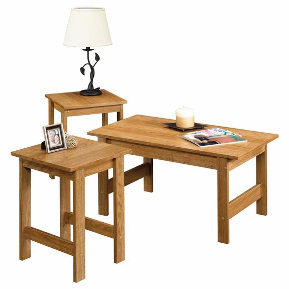 Sauder Beginnings 3 Piece Table Set 412936 Sauder The Furniture Co