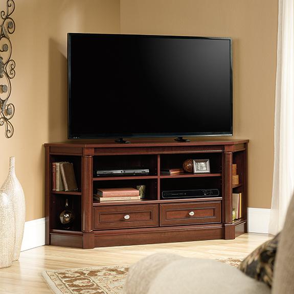 Sauder Palladia Corner TV Stand (420603) – Sauder - The Furniture Co.