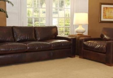Napa Maxwell Oversized Seating Leather Sofa Set