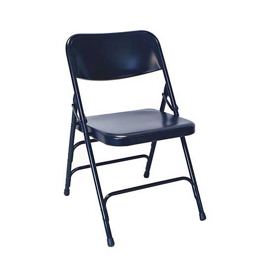 blue metal folding chairs bumbo chair safety am mfc the furniture family