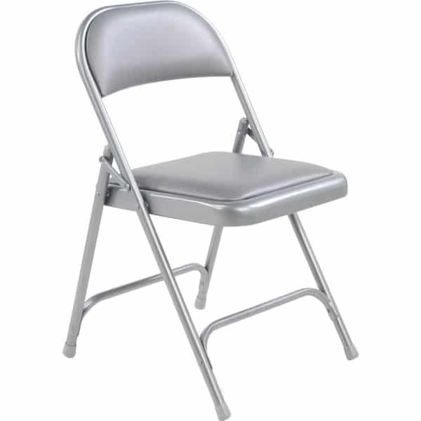 cushioned folding chairs chair covers uk wholesale virco 168 vinyl padded metal the furniture family