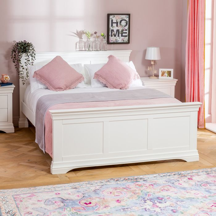 wilmslow white painted 5ft king size bed