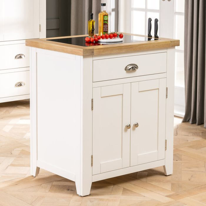 Cheshire Cream Painted Small Kitchen Island With Granite Top The Furniture Market