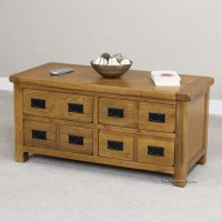 Product of the Week - Rustic Oak 4 Drawer Storage Coffee ...