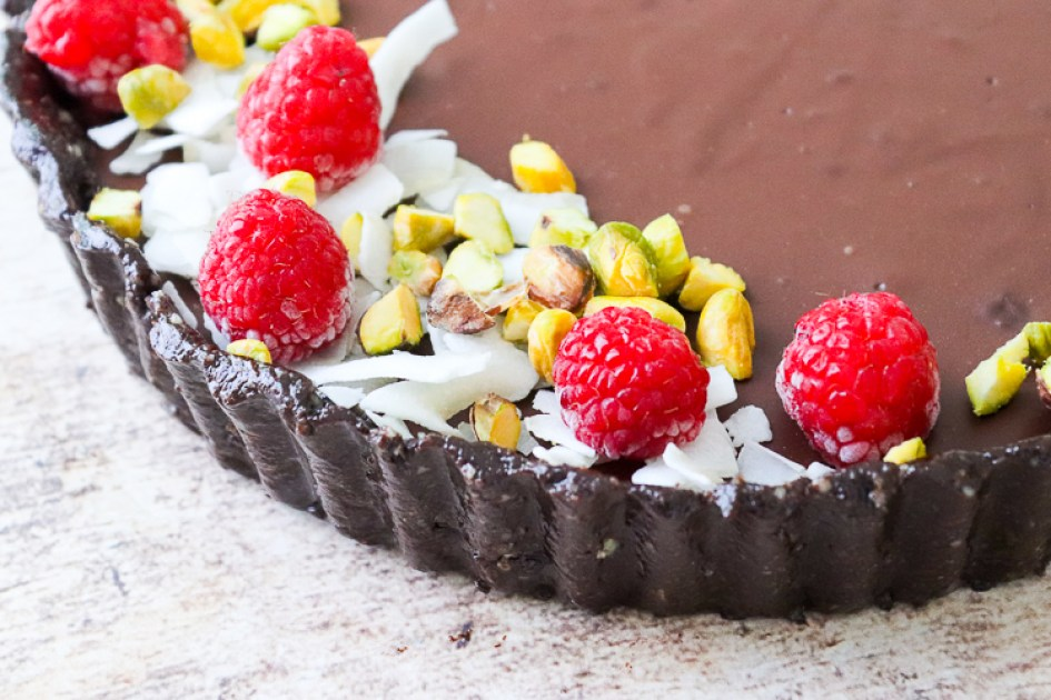 tarta de chocolate vegana