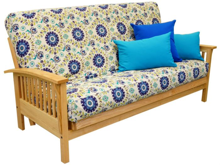 Cornerstone Wood Amish Classic Bent Arm Mission Futon Frame Oak