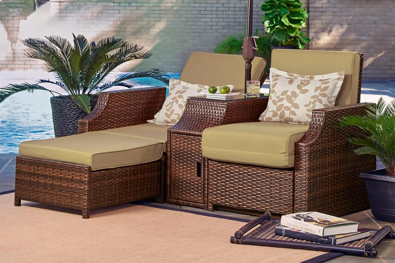 Outdoor Futon Sofa Bed Lounger Santorini  The Futon Shop