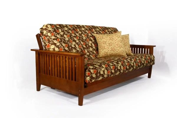Denali Wallhugger Futon Frame Cherry Wooden Sofa Bed