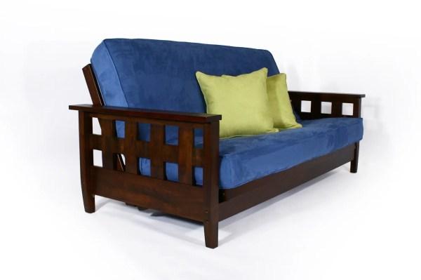 Wallhugging Sofa Bed Futon Lambton Dark Cherry