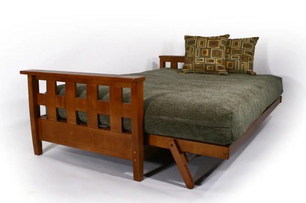Recliner Sofa Bed Cherry Lambton Wallhugger Futon Frame