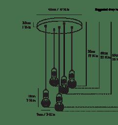chandelier canopy diagram [ 1600 x 1133 Pixel ]