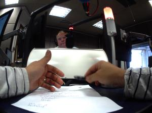 Matt's hands and Mark Murphy taken by the Autographer at BBC Radio Suffolk