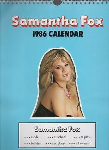 Sam Fox 1986 Calendar, popular in the 80's