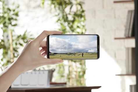 Samsung Galaxy S9 with Infinity display
