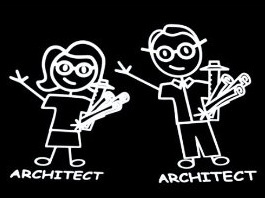 architectural stick figures