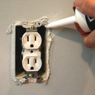 caulk electrical outlets