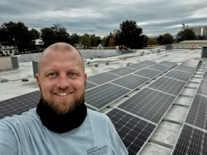 installing solar at EMS