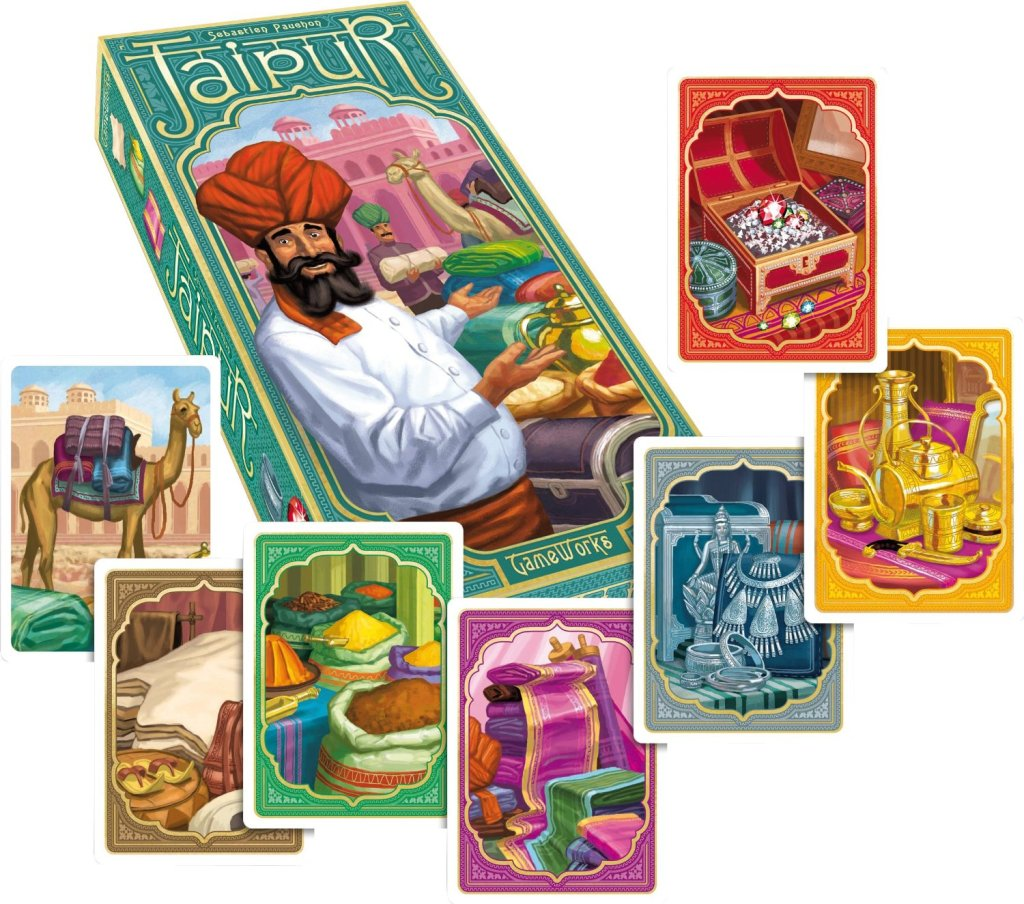 Jaipur: I HIGHLY recommend this 2-player game but what's with the hidden dead panda?